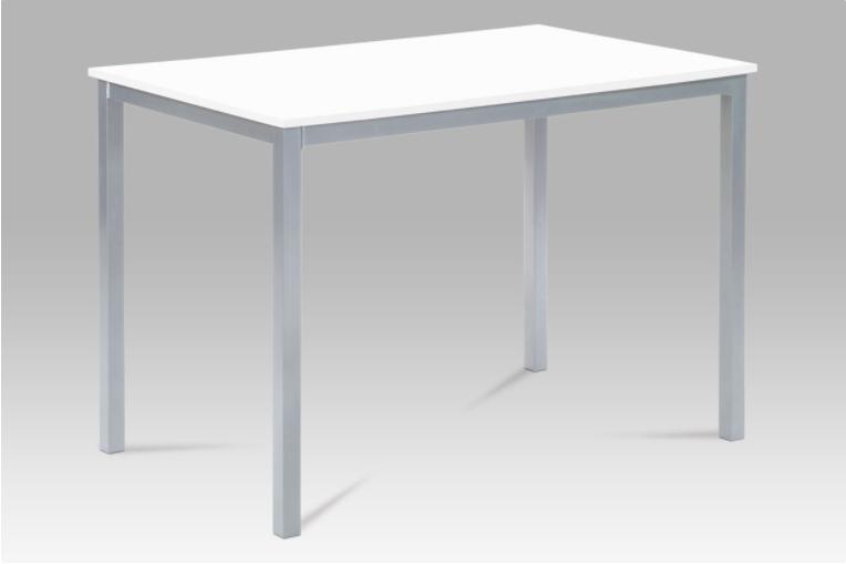 Jídelní stůl 110x70 cm, MDF bílá / šedý lak GDT-202 WT