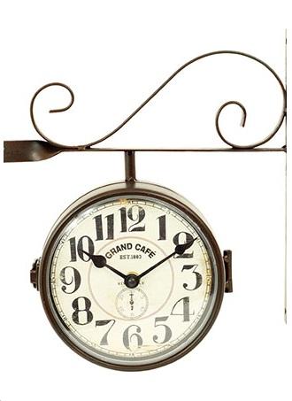 Kovové oboustranné hodiny HA