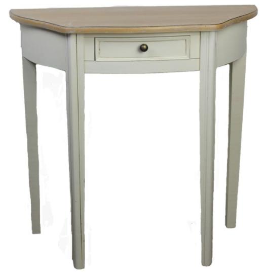Dřevěný stůl bílý, oblouk, D0089