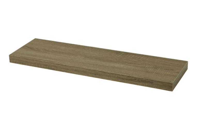 Nástěnná polička 120cm, barva tmavý sonoma dub P-002 SON2