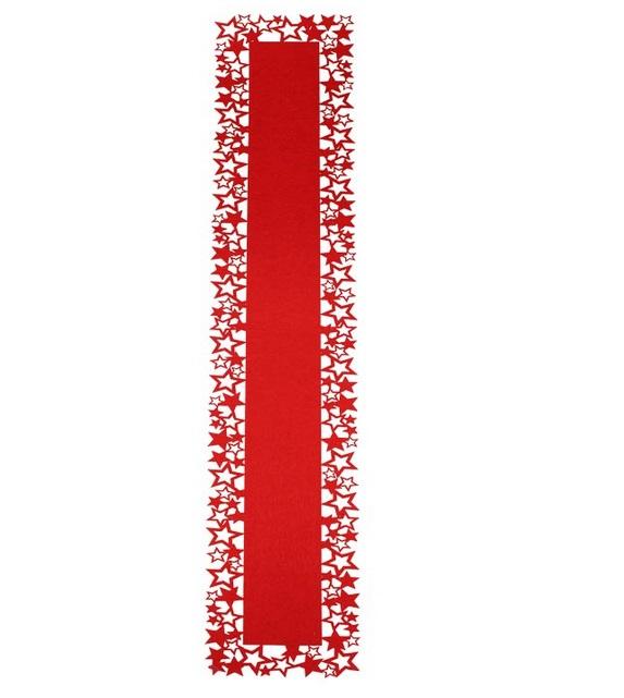 Vánoční podložka, ubrus červený X1083/C