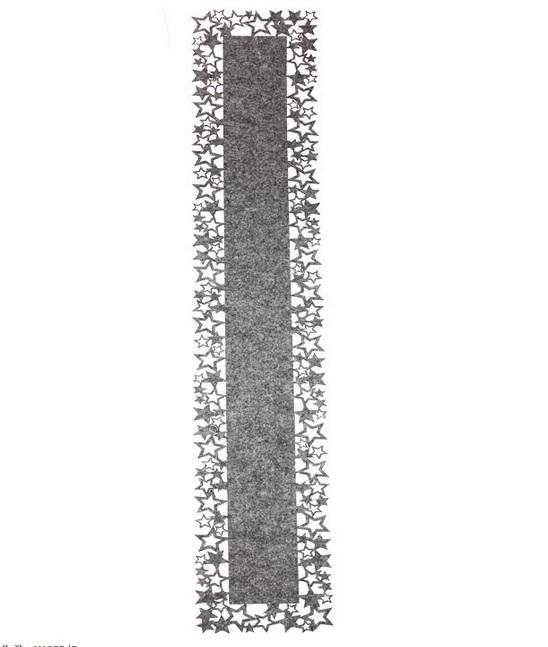 Vánoční podložka, ubrus šedý X1083/S