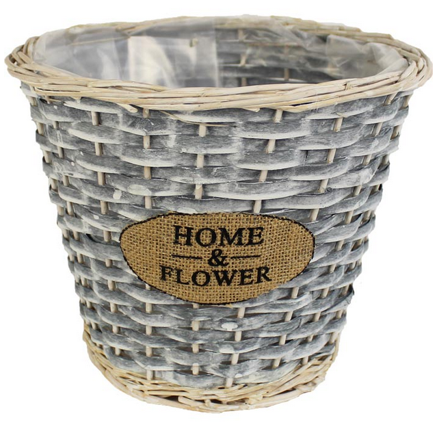 Obal světle šedý pr. 26 cm Home&Flower P0379