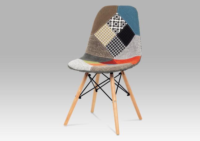 Originální jídelní židle patchwork / natural CT-724 PW2