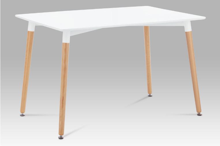 Jídelní stůl 120x80 cm, lak bílá / natural DT-705 WT1