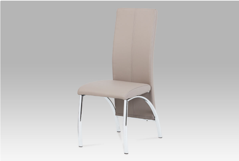 Jídelní židle koženka lanýž / chrom LAN AC-1060 LAN