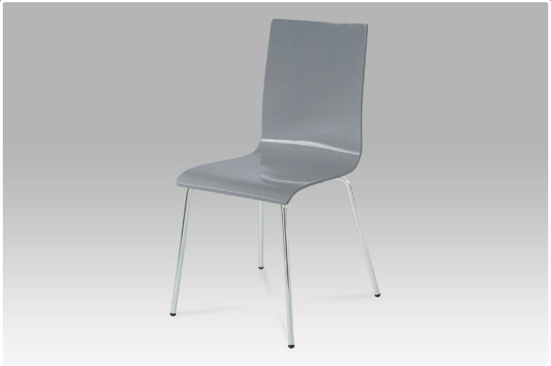 Jídelní židle chrom / vysoký lesk šedá C-520 GREY