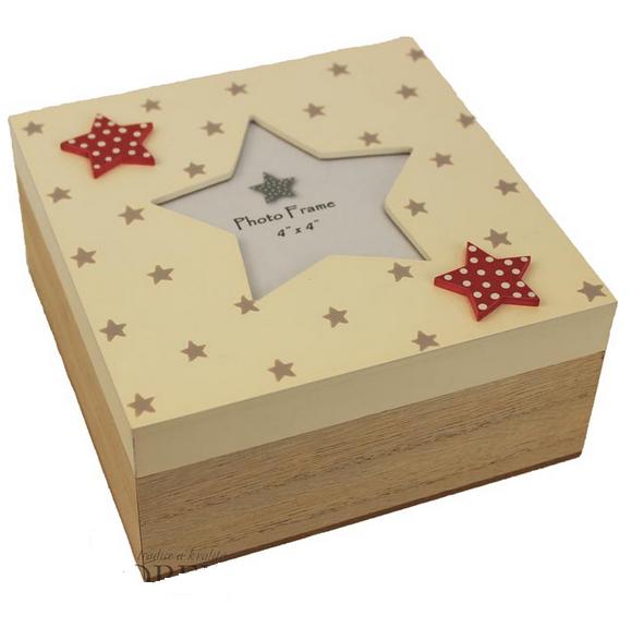 Dřevěná krabička,box s hvězdou