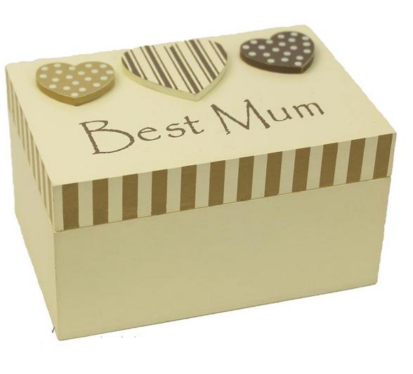 Dřevěná krabička,box Best Mum - pro maminky