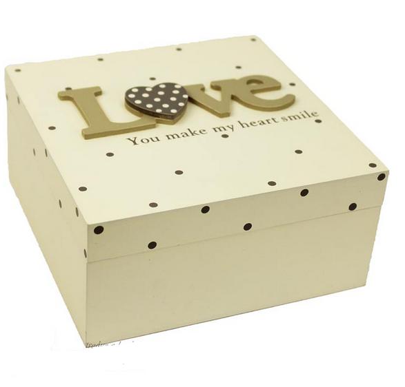 Dřevěná krabička,box love
