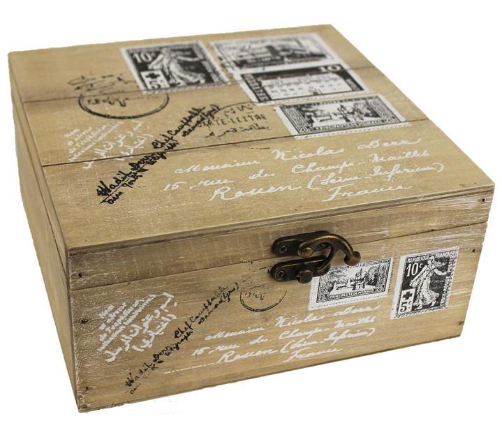 Dřevěná krabička D0268